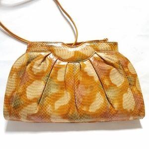Rare! Genuine Snakeskin Leather Bag Purse Clutch